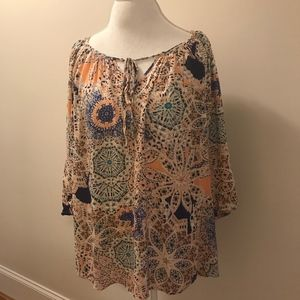 Colorful Peasant Tunic Rose & Thyme Top